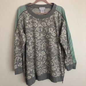 Soft Surroundings Gray Printed Sweatshirt